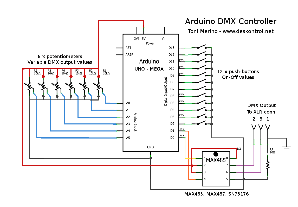 blog toni merino deskontrol small arduino dmx controller rh blog deskontrol net Cat 5 DMX Pinout dmx lighting setup diagram